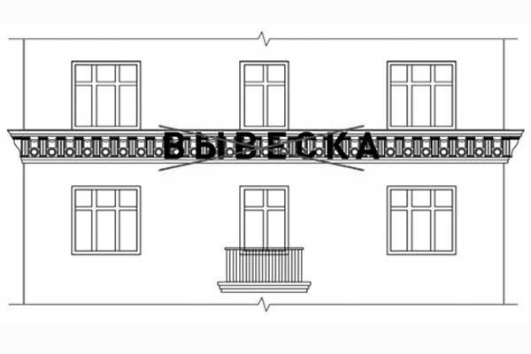 Размещение вывесок на архитектурных деталях фасадов