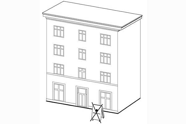 Размещение вывесок в виде отдельно стоящих сборно-разборных конструкций